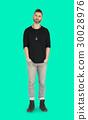 Caucasian Man Peaceful Standing 30028976