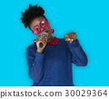 African Woman Vocal Singing Music Microphone 30029364