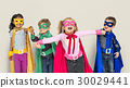 Superhero Kids Friendship Smiling Happiness Playful Togetherness 30029441