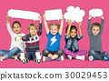 Children Smiling Happiness Friendship Togetherness Speech Bubble 30029453