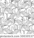 火烈鸟 图形 插图 30030537
