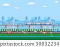 urban life green zone cityscape background 30032234