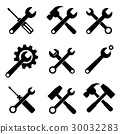 tools supplies icon set 30032283