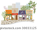shopping strip, store, townscape 30033125
