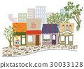shopping strip, store, townscape 30033128