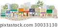 shopping strip, shop, townscape 30033130