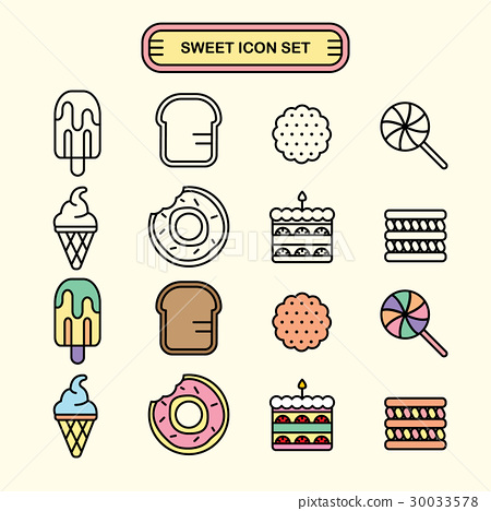 Sweet tooth icon 30033578