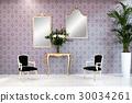 Elegant vintage style living room interior 30034261