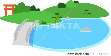 garden, yard, pond 30034702