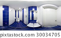 Restroom with toilet and washbasin 30034705