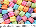 Close up colorful macarons dessert 30036778