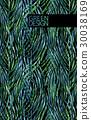 Watercolor tillandsia cyanea pattern 30038169