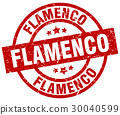 flamenco round red grunge stamp 30040599