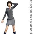 少女 学生 高中女生 30042008