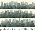 城市 水平的 平行的 30045763