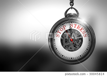 Watch with Stop Stress Red Text on it Face. 3D 30045814