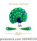 peacock, animal, cartoon 30046539