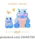 hippos, family, hippo 30046790