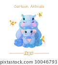 hippos, hippo, animal 30046793