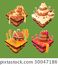Vector isometric sweet islands 30047186