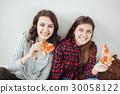 beautiful female organized lunch or dinner break. 30058122