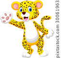 leopard cartoon hand 30061963
