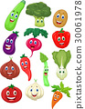 Cute vegetable cartoon character 30061978