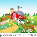 Farm background with animals 30062634