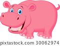 animal, hippo, cartoon 30062974