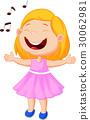 Little girl singing 30062981