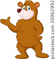 Cute brown bear presenting 30062992