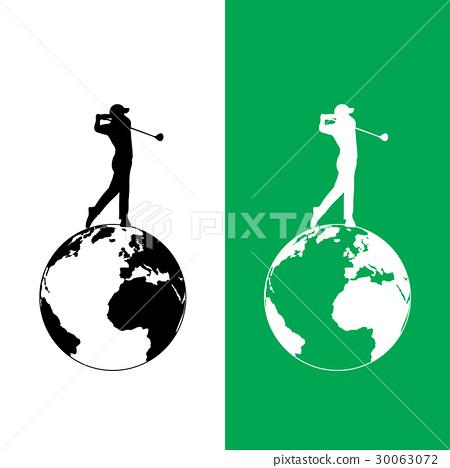 World golf tournament logo graphic design 30063072