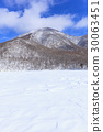 Maebashi, Gunma Prefecture, Onuma frozen with Akagi mountain in winter 30063451
