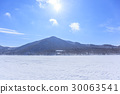 Maebashi, Gunma Prefecture, Onuma frozen with Akagi mountain in winter 30063541