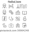 Medical icon set in thin line style 30064248