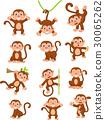 Happy monkey cartoon collection set 30065262