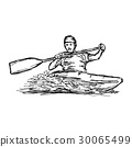 CANOE SLALOM player - vector illustration  30065499