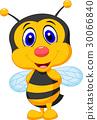 Cute bee cartoon 30066840