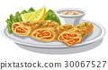 pancakes with salmon 30067527