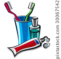 toothpaste and toothbrushes 30067542