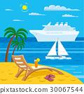 tropical sea beach 30067544
