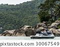 Sea water jet ski in beach bay island Koh Phangan 30067549