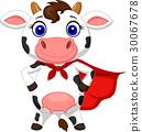 奶牛 卡通 向量 30067678