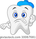 Sick tooth cartoon 30067681