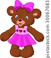 Funny female bear cartoon 30067683