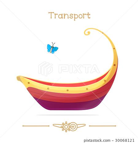 Cartoon Transport. Red pleasure launch.  30068121