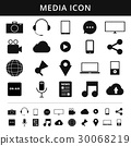 Media Icons. Simplus series. Each icon is a single 30068219