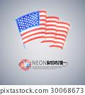 旗帜 旗 霓虹灯 30068673