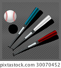 Baseball bats and ball 30070452