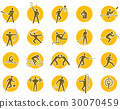 Summer sports icon set 30070459